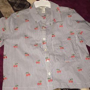 Forever 21 collard shirt
